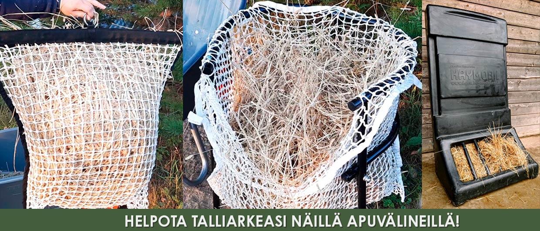 Easy Fill heinäverkko, heinäverkon täyttöteline, Haymobil heinälaatikko