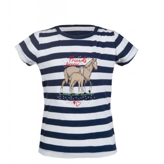 HKM Striped Navy T-paita