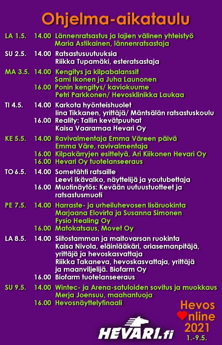 Ohjelma-aikataulu